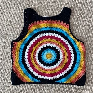ALTAR'D STATE COLORFUL CROCHET TANK TOP